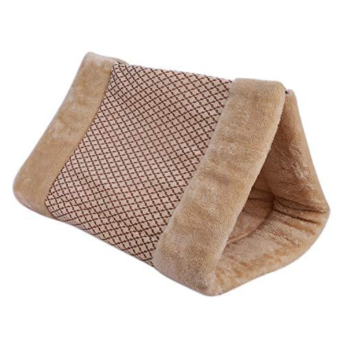 IBLUELOVER 2-in-1-Hund Katze Pet Beds Mats Schlaf Schlummerfunktion Tunnel Fleece Sleeping Kissen Pad Decke für Welpen Kätzchen, One Size, Coffee
