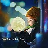 "Large! 5.9""/15cm Full Moon Lamp LED 3D Printing USB Rechargeable Stepless Dimmable Luna Night Light Touch Sensor 2 Brightness White/Warm Modern Floor Desk Home Decorative for Kid Bedroom Novelty Light"