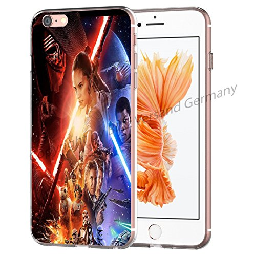 Blitz® STAR WARS Schutz Hülle Transparent TPU Cartoon Comic Case iPhone M3 iPhone 7 M7