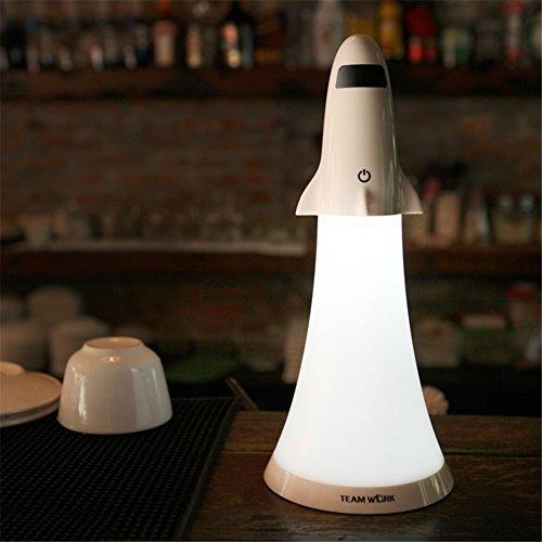 Neuheit Raumfahrzeug Nachtlicht Baby Raum LED Taschenlampe USB Aufladenlampe mit Noten Schalter
