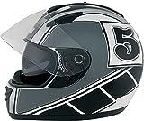 ROADSTAR Integral-Helm Phantom , Dekor Racer silber Größe S