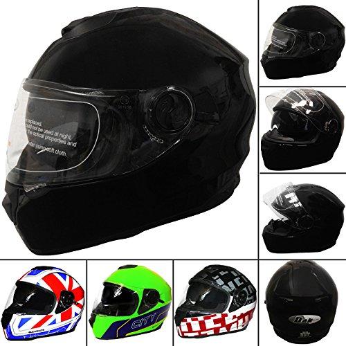 dak-ff965-dvs-full-face-motorbike-helmet-gloss-black-xl-double-sun-visor-motorcycle-crash-helmet