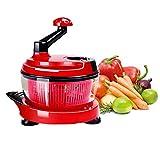 YAOBAO Manuelle Chopper, Gemüse Handbetriebene Kurbel Mixer, Leistungsstarke Küchenmaschine, Gelten Für Zwiebel Knoblauch Nüsse Kräuter Chopper