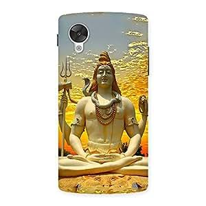 Impressive Shiva Samadhi Print Back Case Cover for Google Nexsus 5