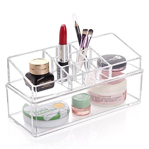 TuTu Boîte à tampon en coton acrylique / cadre de rouge à lèvres / Support d'affichage de maquillage (23 * 9.5 * 11.5cm)