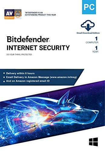 BitDefender Internet Security Latest Version (Windows) - 1 User, 1 Year (Email Delivery in 2 hours - No CD)