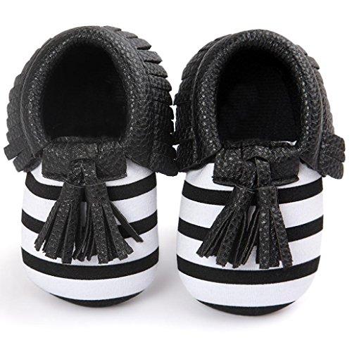 FEITONG Baby Krippe Troddeln Bowknot Schuh Kleinkind Turnschuh Beiläufige Schuhe (13, Braun) Schwarz