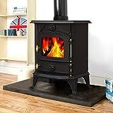 Lincsfire Saxilby JA013 6.5KW Multifuel Woodburning Stove Wood Burner Log Burning Fire Fireplace Cast Iron Woodburner