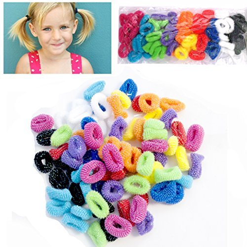 50-Pack-of-Girls-Hair-Bobbles-Bands-Mini-Baby-Ponytail-Elastic-Stretchy-Hairband
