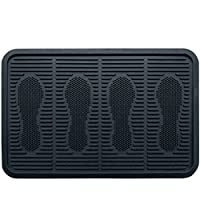 SafetyCare Heavy Duty Flexible Rubber Boot Tray, Multi-Purpose for Shoes, Pets, Garden - Mudroom, Entryway, Garage. Indoor or Outdoor - Floor Protection, Use As Pet Feeding Tray, or Cat Litter Tray - 32 x 16 Inches - 1 Pack