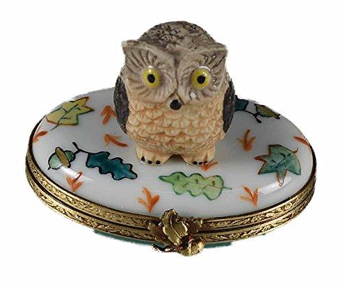 Porcelaine de Limoges Eulen-Box (Limoges Box)