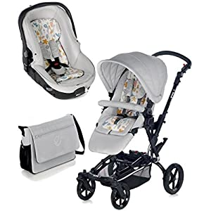 Jané 5480T30-Paseo Chairs Cosatto Includes: Chassis,Seat unit, Hold Car seat,Isofix base,Car seat adaptors,Raincover, Apron and 4 Year guarantee(UK and Ireland only) Suitable from birth up to 15kg. One unit transforms from newborn pram mode into pushchair mode. Space saving. No need to buy separate carrycot.. Colour packs available so you can change the look to suit your mood, family and adventures. Includes hood, pram apron and padded pushchair apron. 12