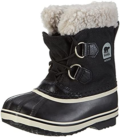 Sorel YOOT PAC NYLON, Unisex-Kinder Warm gefütterte Schneestiefel, Schwarz (Black 010), 37 EU