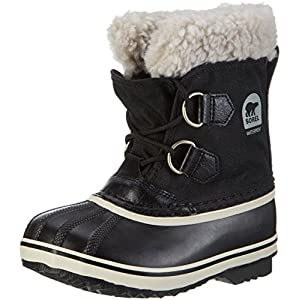 Sorel Unisex Kids Yoot Pac Nylon Snow Boots, Black (Black), 11 UK