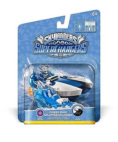 Figurine Skylanders : Superchargers - Splatter Splasher - Bleu/Blanc