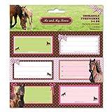 Pferd Etiketten Kinder Stickers Aufkleber 18 Stück