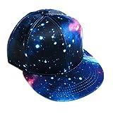 Kappen Unisex Mütze Snapback Cap Flat Brim Rose Caps Star Hip Hop Baseball Cap Baseballmütze Classic,für Herren und Damen (Blau)