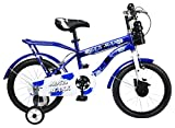 #5: MAD MAXX Steel Kids Humber 16T Road Cycle, 16 inches (Blue/White) for 4 to 6 Years Child