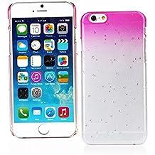 "Kit Me Out ES Carcasa plástico para Apple iPhone 6 4.7"" pulgadas - Rosa intenso / Transparente efecto gotas de lluvia"