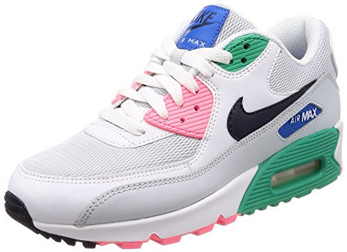 Nike Air Max 90 Essential Herren Running Trainers AJ1285 Sneakers Schuhe (UK 6 US 7 EU 40, White Obsidian Pure Platinum 100)