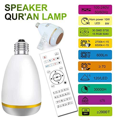 dianhai Lettore Musicale LED Light Control Remote SQ302 Equantu Colorful Bluetooth Speaker LED Bulb