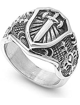 Ring aus rostfreiem Stahl - Schwert
