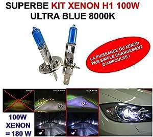 LA PUISSANCE DU XENON PAR SIMPLE CHANGEMENT D'AMPOULE ! KIT XENON H1 100W !RAID PREPARATION 4X4