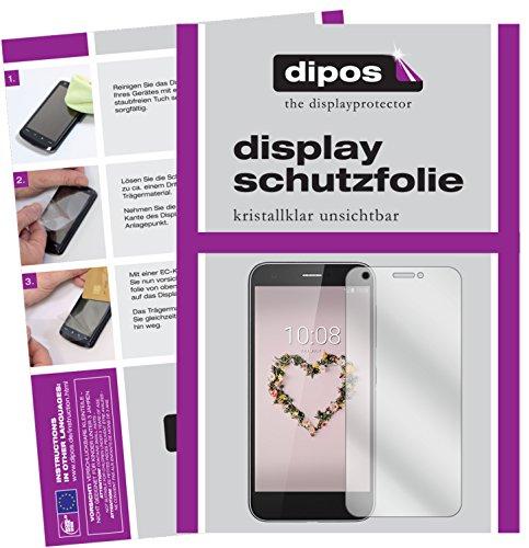 dipos I 2X Schutzfolie klar passend für ZTE Blade A512 Folie Bildschirmschutzfolie