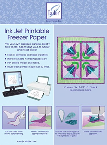 June Tailor Inkjet Printable Freezer Paper 8.5 11-inch Pack of 10