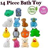 WISHKEY Chu Chu Colorful Animal Shape 14 Pcs Squeeze Bath Toys