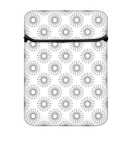 Snoogg klein Chakren 43,2cm einfachen Zugang Gepolstertes Laptop Schutzhülle Flip Sleeve Tasche
