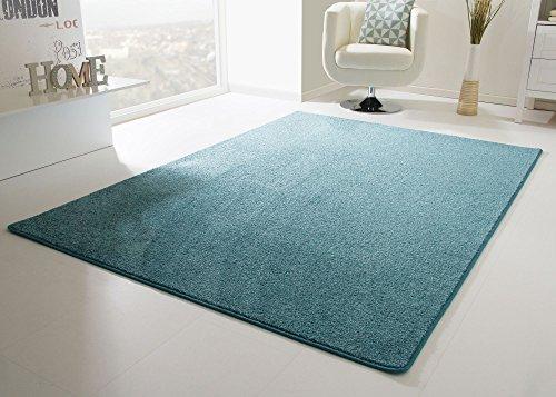 Designer Teppich Modern Cambridge in Türkis, Größe: 200x200 cm