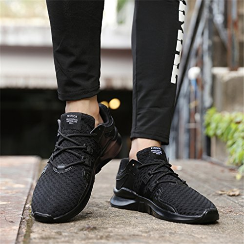 Scarpe Da Ginnastica Da Uomo Donna Running Sneakers Sneakers Casual Traspirante Scarpe Da Ginnastica Sportive Scarpe Da Ginnastica Scarpe Da Corsa Indoor Outdoor Bianco Nero D Nero