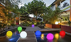 2 in 1 solar gartenleuchte schwimmkugel mit led beleuchtung kabellos schwimmf hig 8. Black Bedroom Furniture Sets. Home Design Ideas