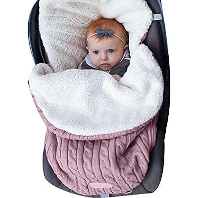 Manta de Invierno para Bebé Recién Nacido Manta Envolvente Saco de Dormir Swaddle Diseño Universal y Multifunción para Sillas de Bebé, Cochecitos, Cunas