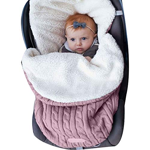 Saco de Dormir Manta Envolvente de Invierno para Bebé Recién Nacido Swaddle Wrap Manta Multiusos Universal Unisex para Cochecitos, Cunas, Sillas de Paseo de Bebé para Niños o niñas de 0-12 meses, 62cmx48cm