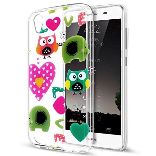 Preisvergleich Produktbild Ikasus® Schutzhülle Huawei Y6II, Silikon, TPU, weich, bunt, Ultra Slim, Semi Hybrid, flexibel, weich, TPU-Schutzhülle, für Huawei Y6II