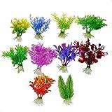 Calli 10 X ornement plante réservoir de poissons d'aquarium en plastique artificielle décoration