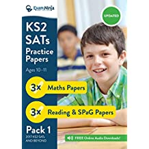 2018 KS2 SATs Practice Papers - Pack 1 (English Reading, SPaG & Maths) Inc. Answers & Audio