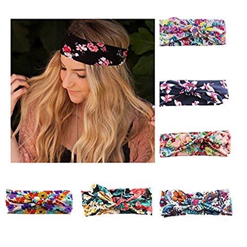 HABI 6 stk mehrfarbig Kopfband Stirnband Haarspange Fliege Schleife für Damen