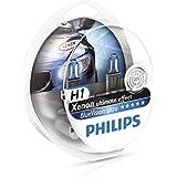 Philips 12258BVUSM BlueVision Ultra - Bombilla H1 para faros delanteros (2 unidades, 12 V, 55 W)