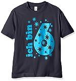 Coole-Fun-T-Shirts Jungen T-Shirt Ich Bin 6 Jahre!, Gr. One Size (Herstellergröße: 128cm/6 Jahre), Blau (Navy-Sky)