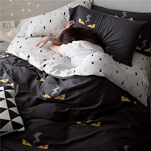 60 Baumwolle Satin Baumwolle 4 einfachen Betten Baumwolle Druck 1,8 m Bett Bettwäsche, Fendi kleine Teufel, 1,5 m (5 Fuß) Bett