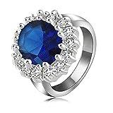Aooaz Schmuck Damen Hochzeit Ringe Vergoldet Ringe Runde Ring Strass Zirkonia Ring Größe 57 (18.1)