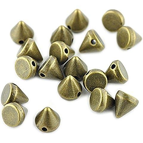 6 mm Cono del perno prisionero granos de oro antiguo * Cantidad de 250
