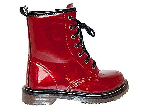 Foster Footwear - Stivali da Motociclista da ragazza' donna Burgundy