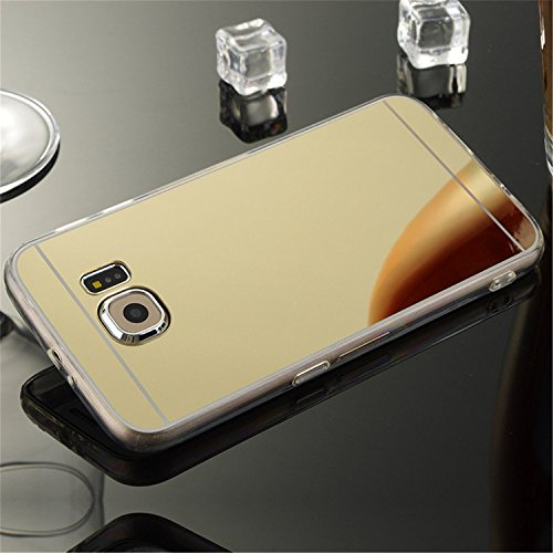 ARTLU® Galaxy S3 i9300 hülle, Schlank Handy-Gehäuse Hülle Spiegel TPU Case Schutzhülle Silikon Case Tasche Für Samsung Galaxy S3 i9300 , Schwarz Gold