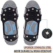 wirezoll para Zapatos, Kiesel Gel Antideslizante través Zapatos/Zapatillas 10 Tacos Nieve Crampones Tacos
