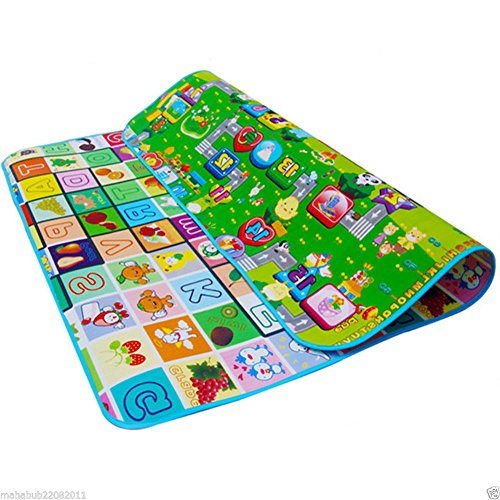 Baby Playpen Activity Mat - Soft Foam Coloured Activity Educational Playmat 180 x 200cm - Perfect for Babies Play Pen