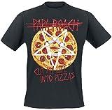 Papa Roach Pizza T-Shirt Black